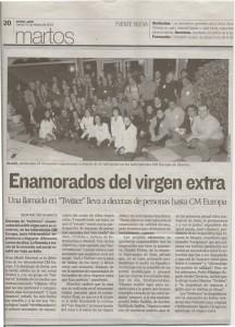 Mención de #twittsandoave en Diario Jaén, celebrado en CM EUROPA S.L.