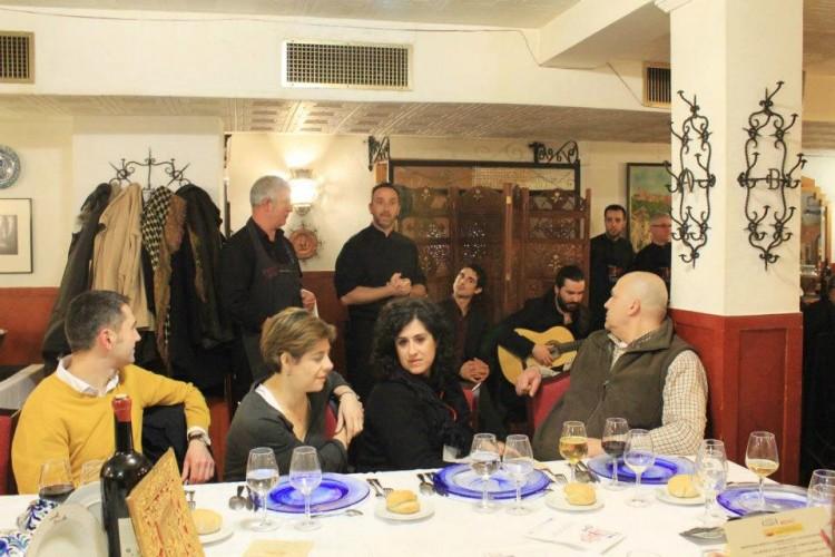 Vista general de la cena en Restaurante Sevilla